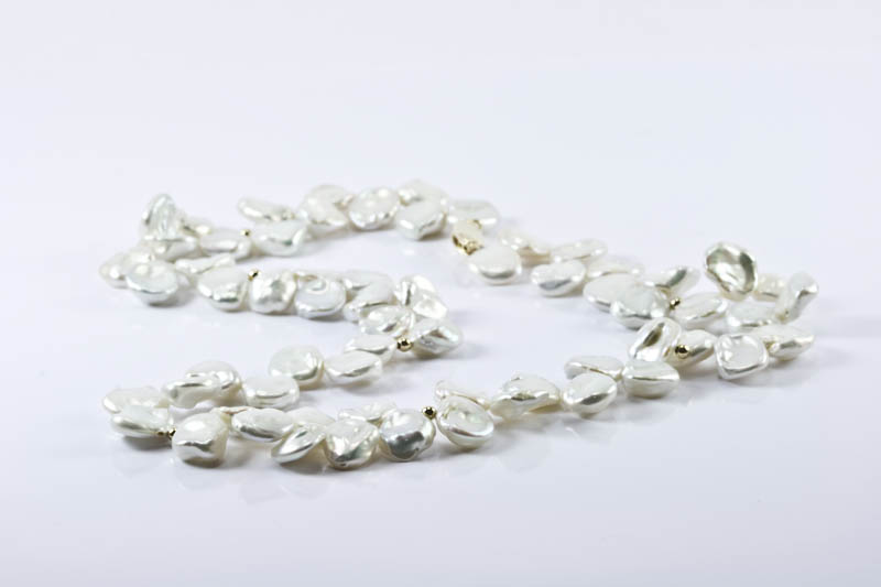 Keshi petal pearl necklace(10mm, AAAA Grade)