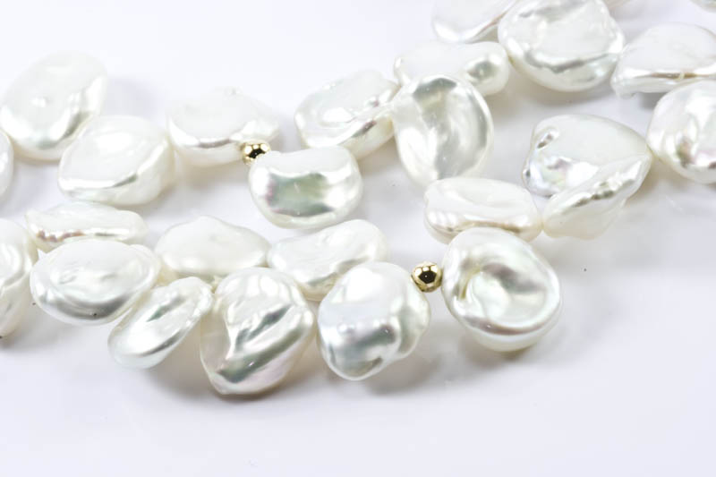 Keshi petal pearl necklace(10mm, AAAA Grade) - Click Image to Close