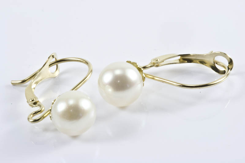 7mm AAA Grade Japanese Akoya Cultured Pearl Earrings