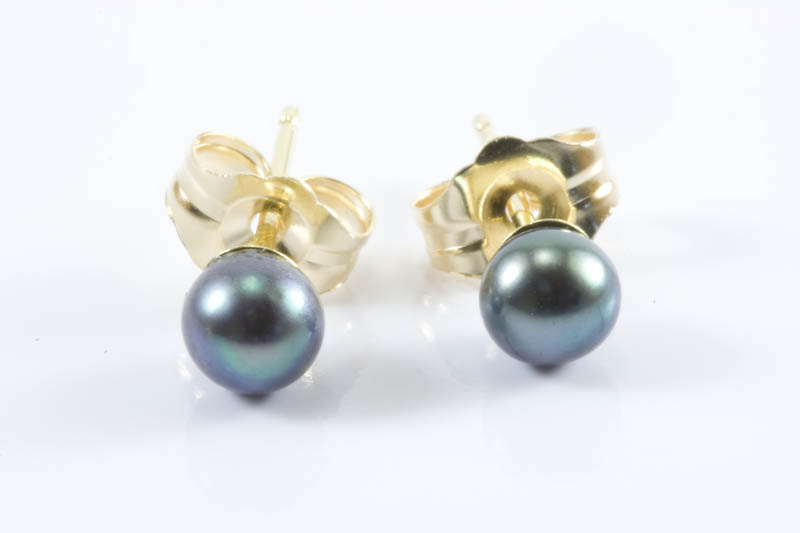 Children's Black Pearl Earrings