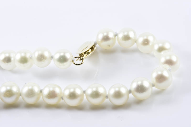 "Japanese Akoya Cultured Pearl Bracelet(7"" 6mm, AA Grade)"