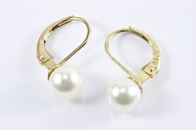Japanese Akoya Cultured Pearl Earrings(7mm, AAA Grade ) - Click Image to Close