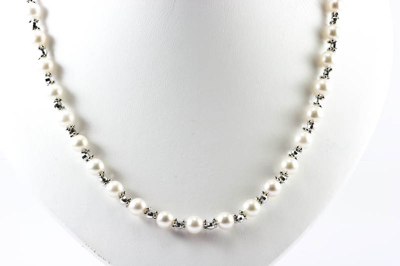 Japanese Akoya Pearl White Gold Necklace7mmAAA ctnecklace202