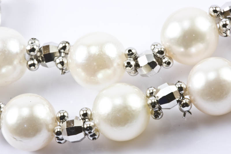 Japanese Akoya Pearl & White Gold Necklace(7mmAAA ) - Click Image to Close