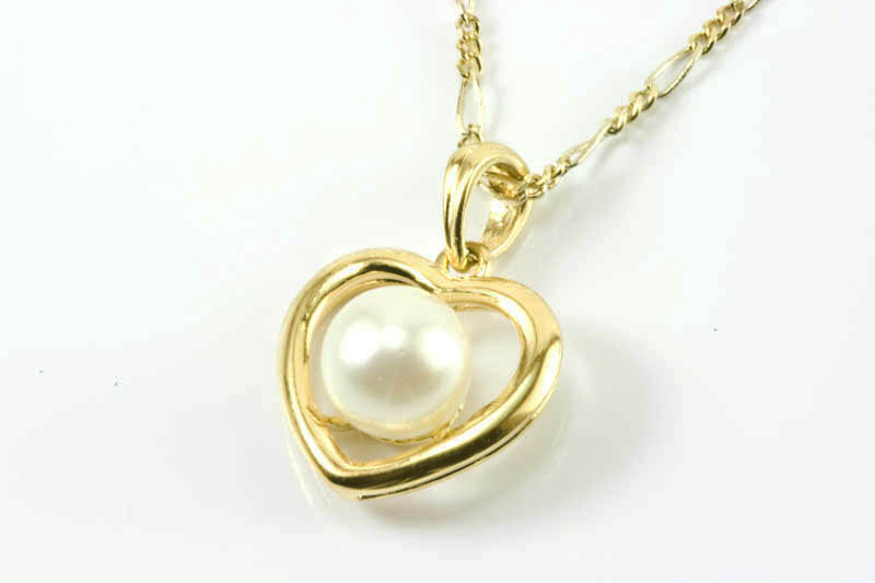 Heart shaped pearl pendant7mm aaa grade 18k gold ctpendant15 heart shaped pearl pendant7mm aaa grade 18k gold mozeypictures Choice Image