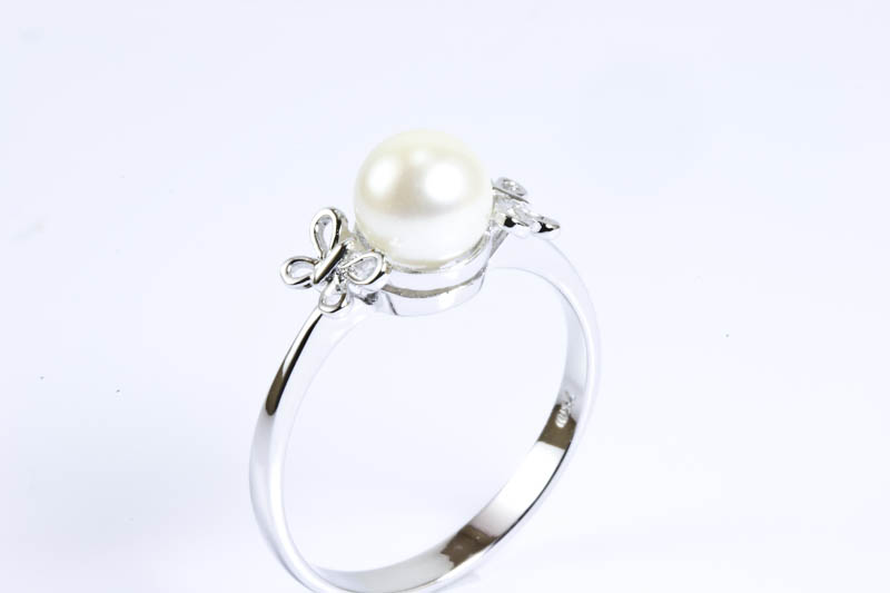 Akoya Cultured Pearl Ring(7mm, AAA Grade, 18k/w Gold) - Click Image to Close
