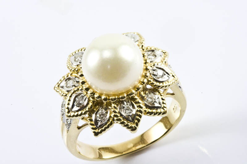 10mm Akoya Pearl Ring