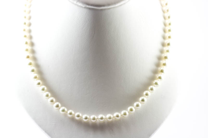 round fresh water pearl necklace(6mm, AAAA grade) - Click Image to Close