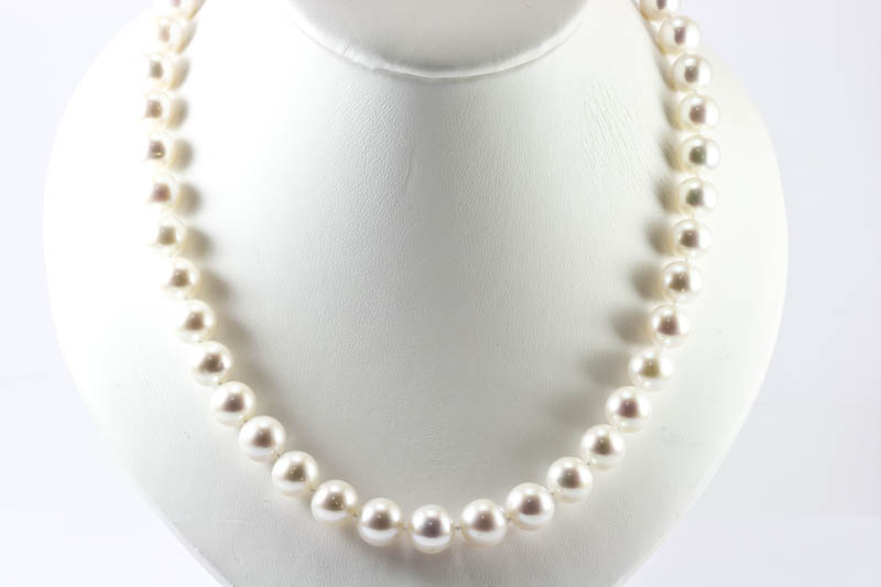 Huge White Round pearl necklace(10-11mm )