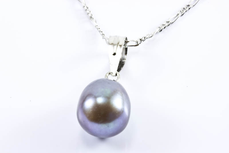 8x11mm Black Pearl Pendant