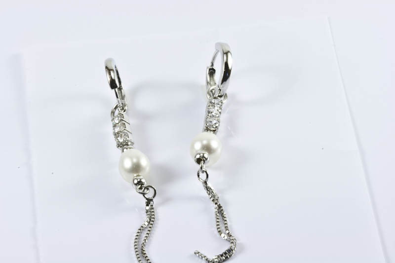 Stunning Dangling Pearl Earrings