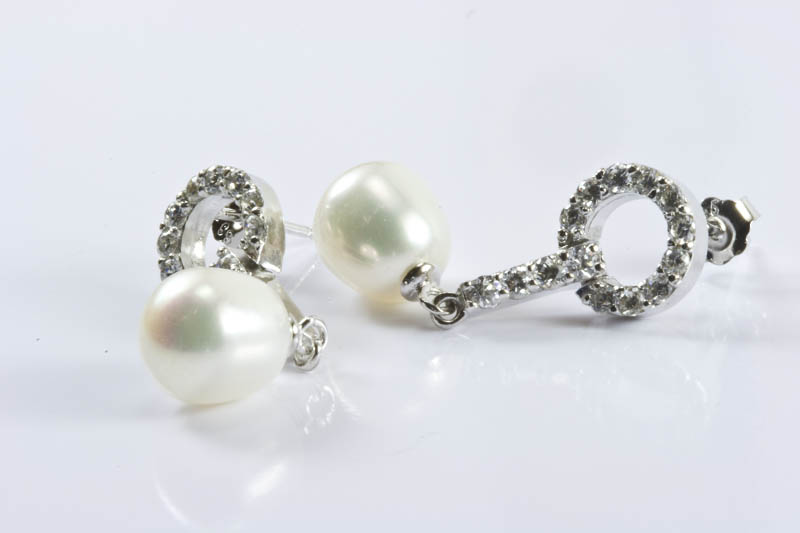 Tiffany Style Pearl Earrings