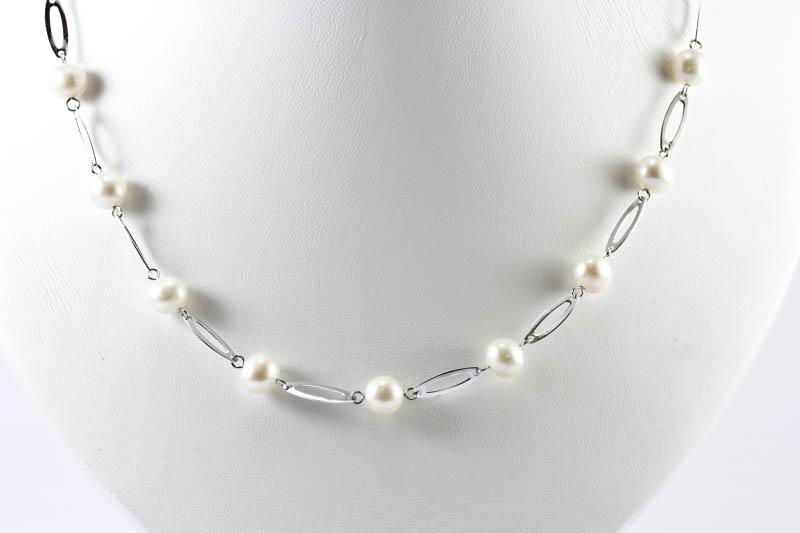 a394d6ce4 Pearl and Silver Necklace [ps_necklace104] - $48.00 : The Lin Co ...