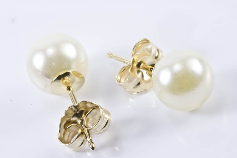 Akoya Pearl Earrings(7mm, AA grade ) - Click Image to Close