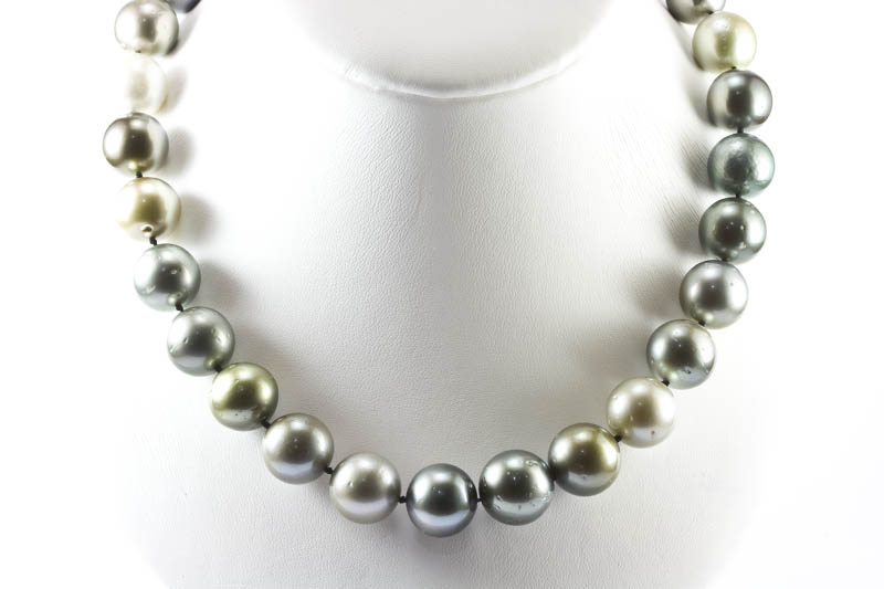 "South Sea Pearl Necklace(18"" 13-15mm, Multi Color )"