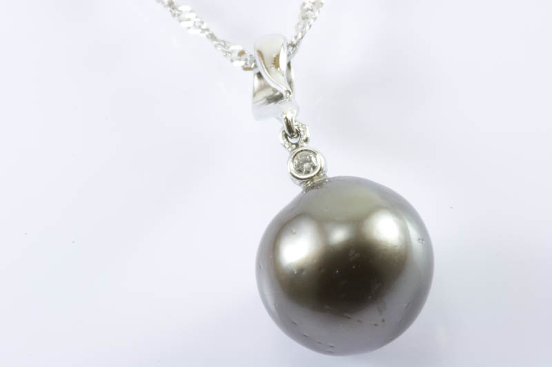 13mm Black South Sea Pearl Pendant