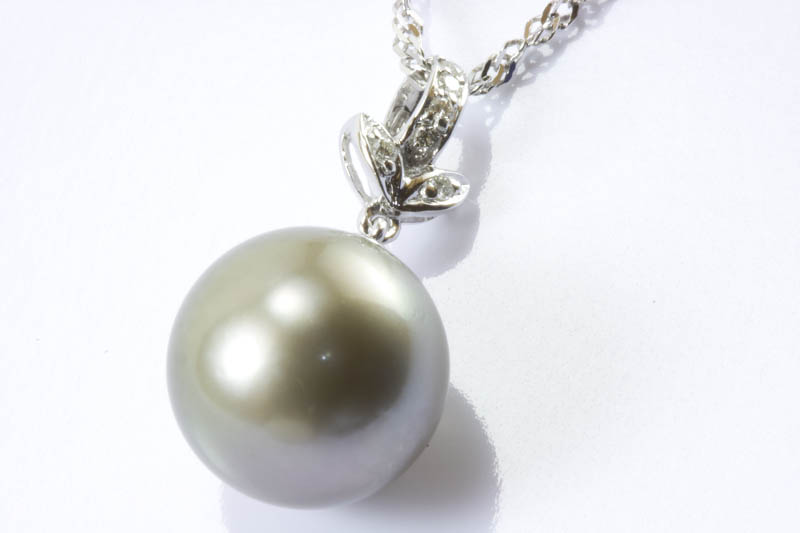 12.5mm Gray Golden Color South Sea Pearl Pendant