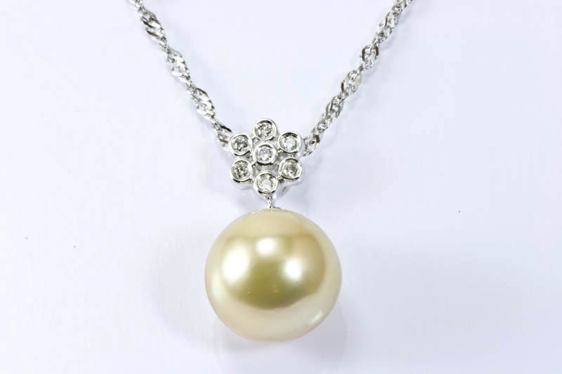 11.5mm Golden South Sea Pearl Pendant