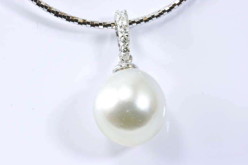11mm white south sea pearl pendant ssppendant105 95000 the 11mm white south sea pearl pendant aloadofball Gallery